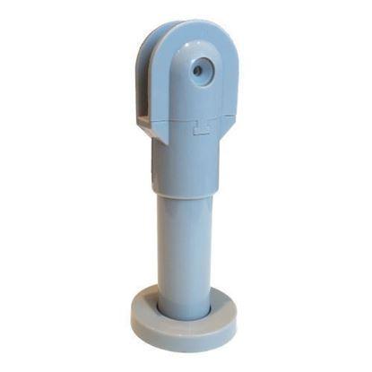 Reguliuojama pilka plastikinė WC ir dušų pertvarų kojelė