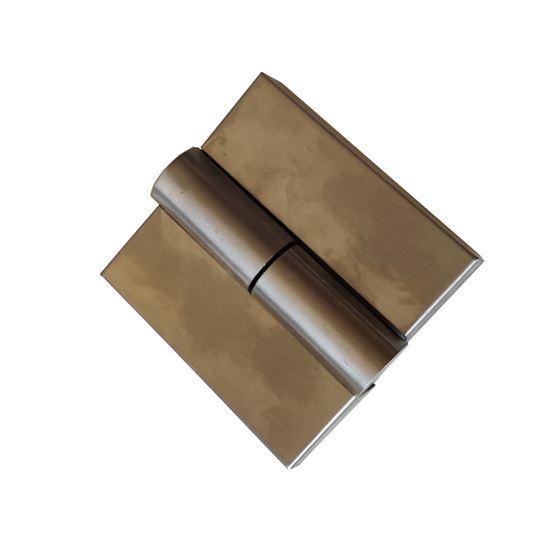 Nerūdijančio plieno kairinis šarnyras WC durims