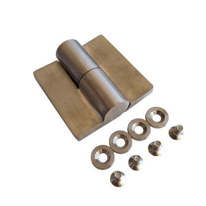 Nerūdijančio plieno kairinis šarnyras WC durims iš HPL compact