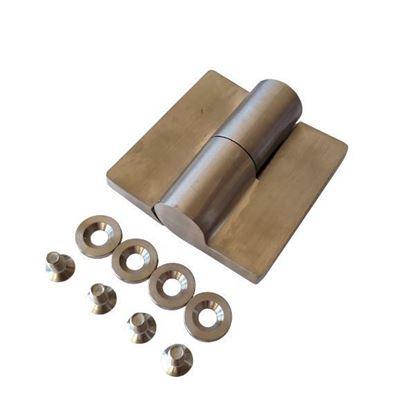 Nerūdijančio plieno dešininis šarnyras WC durims iš HPL compact